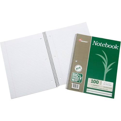 Skilcraft Single-subject Wirebound Notebook NSN6002024