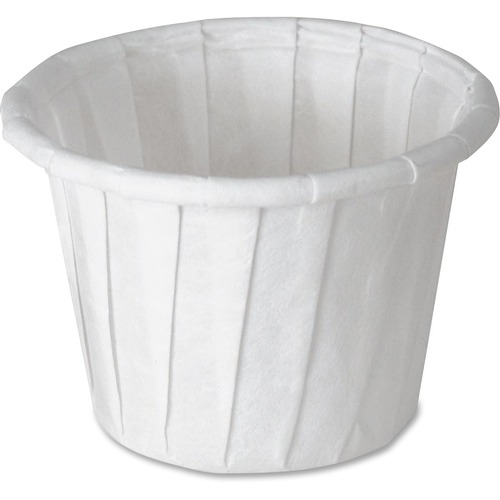 SOLO Cup Company Paper Portion Cups, .75oz, White, 250/Bag, 20 Bags/Carton SCC075