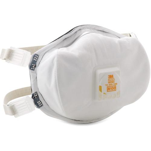 3M Disposable N100 Particulate Respirator MMM8233-BULK