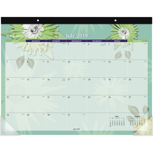 At-A-Glance Paper Flowers Calendar Desk Pad AAG5035A