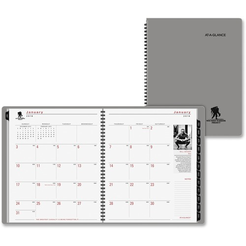 At-A-Glance Wounded Warrior Tabbed Monthly Planner AAG70260W45