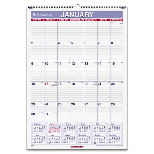 At-A-Glance Recycled Monthly Wall Calendar AAGPM22814