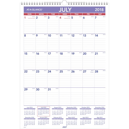 At-A-Glance Basic Wall Calendar AAGPMA228
