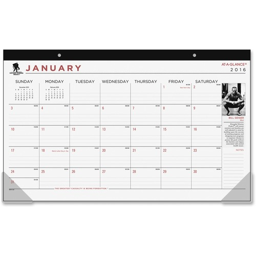 At-A-Glance Compact Calendar Desk Pad AAGSKW1400