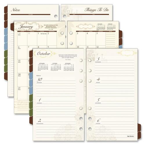 Day Runner Tabbed 2PPM Weekly/Monthly Planner Refills DRN3042100