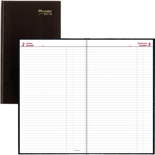 Rediform Large Perfect Binding Daily Planners REDC551BLK
