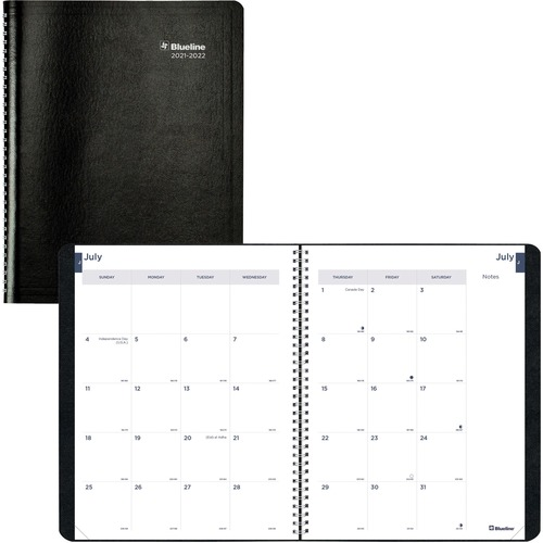 Rediform 14-Month Monthly Academic Planner REDCA701BLK