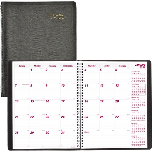 Rediform 16-Months Dated Monthly Planner REDCB1260BLK