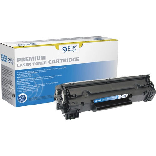 Elite Image MICR Toner Cartridge - Remanufactured for HP (CE278A) - Black ELI75635