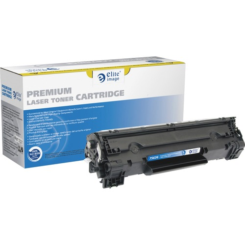 Elite Image MICR Toner Cartridge - Remanufactured for HP (CE285A) - Black ELI75636