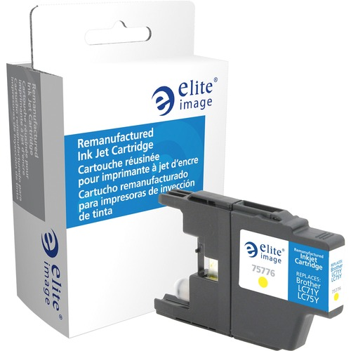 Elite Image Ink Cartridge - Remanufactured for Brother (LC75Y) - Yellow ELI75776