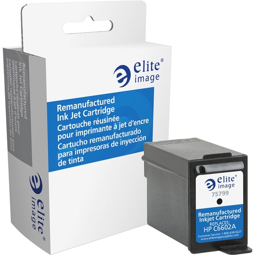 Elite Image Ink Cartridge - Remanufactured for HP (C6602A) - Black ELI75799