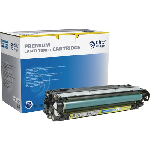 Elite Image Toner Cartridge - Remanufactured for HP (CE742A) - Yellow ELI75861