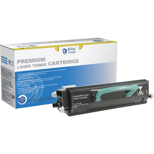 Elite Image Toner Cartridge - Remanufactured for Lexmark (E352H21A) - Black ELI75867