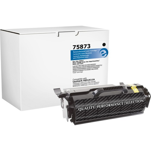 Elite Image Toner Cartridge - Remanufactured for Lexmark (X654X21A) - Black ELI75873