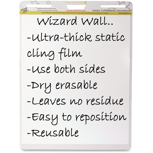 Wizard Wall Dry Erase Static Cling Film Easel Pads WZWEP156PK