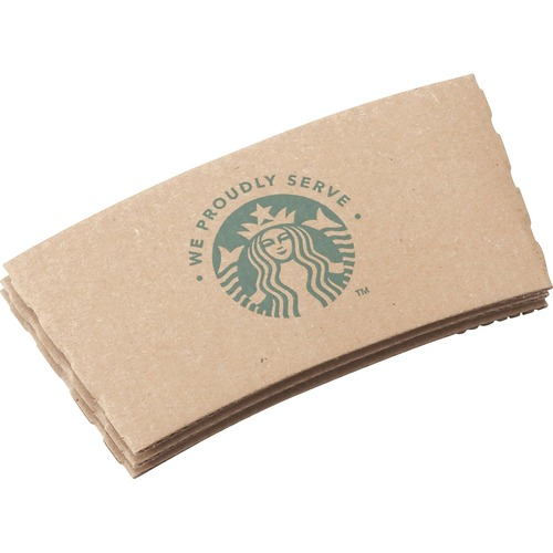 Starbucks Cup Sleeves, For 12/16/20 oz Hot Cups, Kraft, 1380/Carton SBK11020575