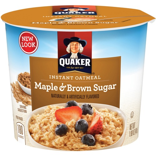 Quaker Foods QKR31971 Maple Brown Sugar Oatmeal Express Cup Pack of 24 261367404