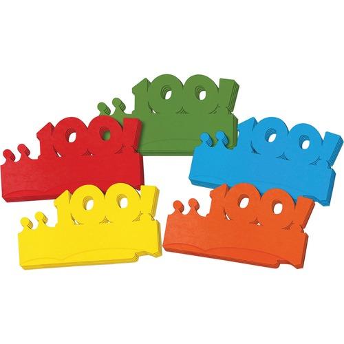 Chenille Kraft Company Ckc4670 Paper Crowns, First 100 Days, 25 Pieces, Multi-Color CKC4670