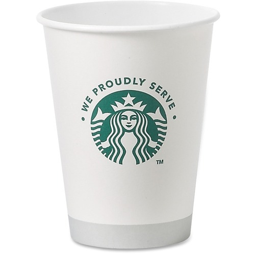 (1000 per Carton) 12 oz Starbucks Hot Cups in White SBK11033279