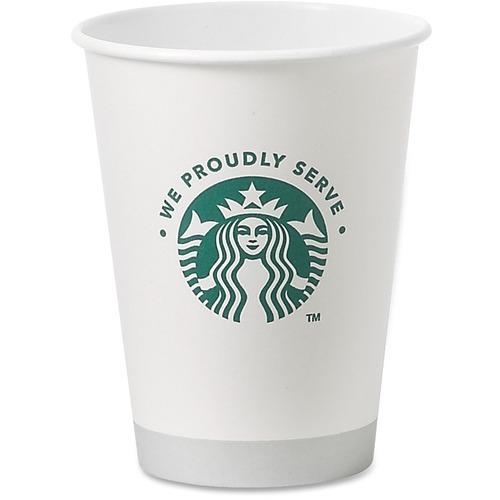 (1000 per Carton) 12 oz Starbucks Hot Cups in White SBK11033279