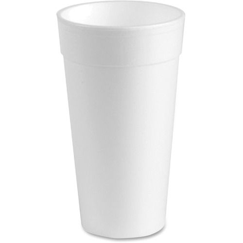 Genuine Joe Styrofoam Cups, 24 oz, 300 CT, White - GJO25251 304595009
