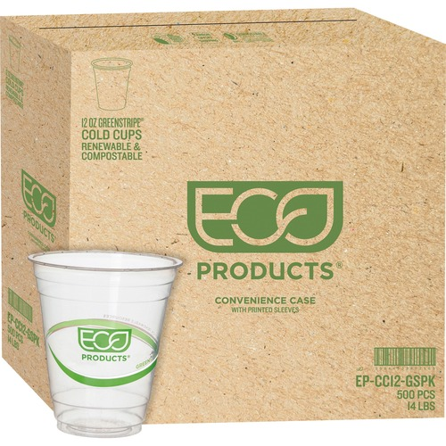 Eco-Products GreenStripe Cold Cups ECOEPCC12GSCT-BULK
