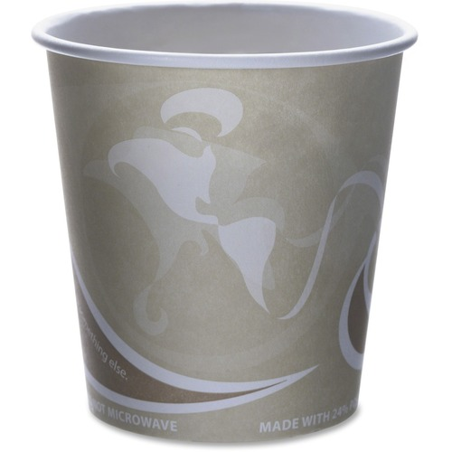 Eco-Products Evolution World PCF Hot Cups ECOEPBRHC10EWPK-BULK