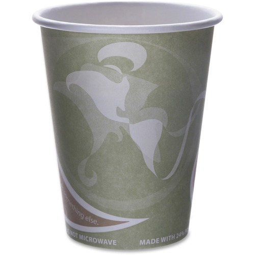 Eco-Products Evolution World PCF Hot Cups ECOEPBRHC12EWPK-BULK
