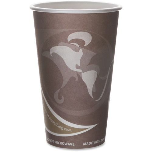 Eco-Products Evolution World PCF Hot Cups ECOEPBRHC16EW-BULK