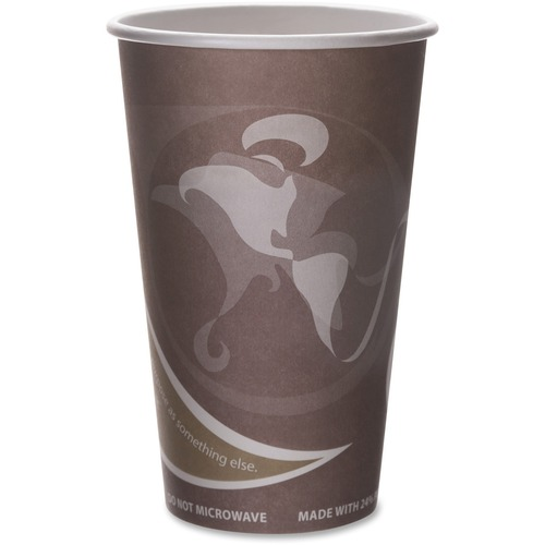Eco-Products Evolution World PCF Hot Cups ECOEPBRHC16EWPK-BULK
