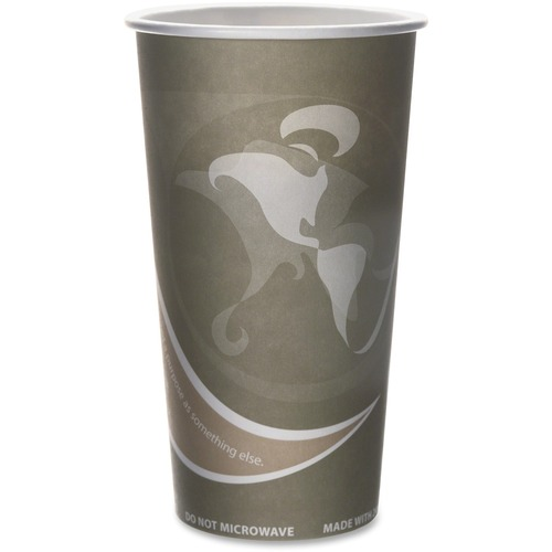 Eco-Products Evolution World PCF Hot Cups ECOEPBRHC20E