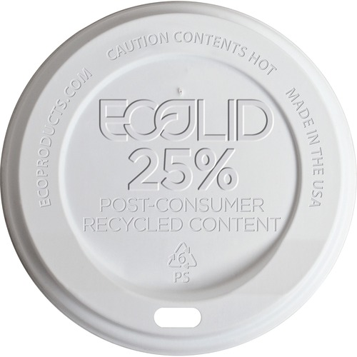 Eco-Products EcoLid Recycled Large Hot Cup Lids ECOEPHL16WR-BULK