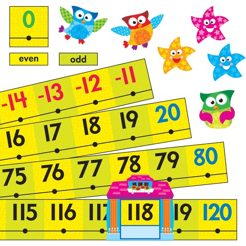 Trend Owl-Stars Coll. -20 To 120 Board Number Line TEP8299-BULK