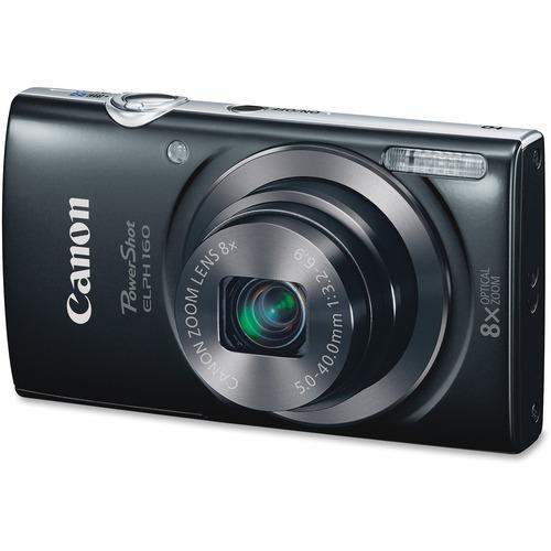 Canon PowerShot ELPH 160 20 Megapixel Compact Camera - Black CNM0134C001