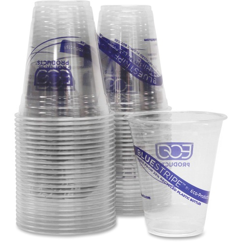Eco-Products BlueStripe Cold Drink Cups ECOCR12CT-BULK