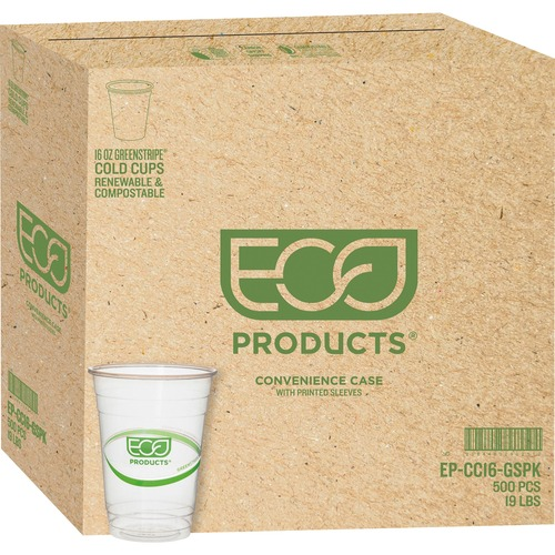Eco-Products GreenStripe Cold Cups ECOEPCC16GSCT-BULK