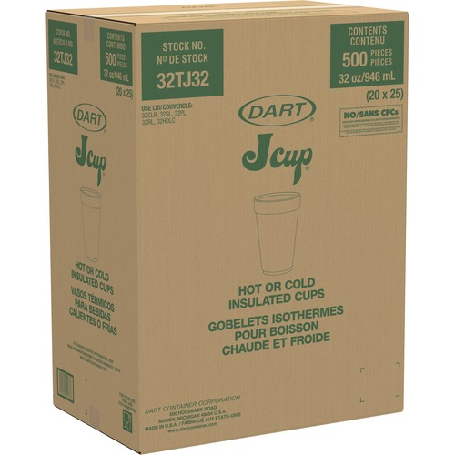 Dart 32-oz Big Drink Foam Cups DCC32TJ32CT