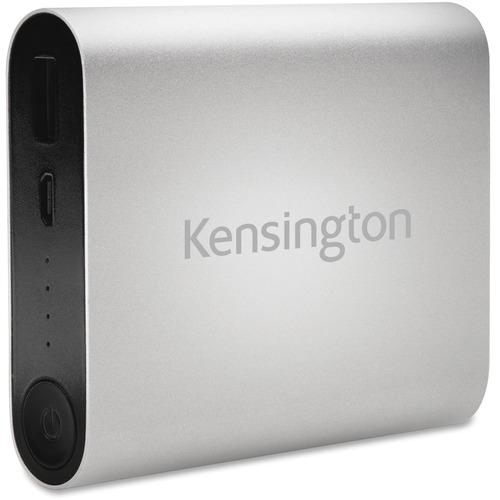 Kensington 10400 USB Mobile Charger-Silver KMW38219