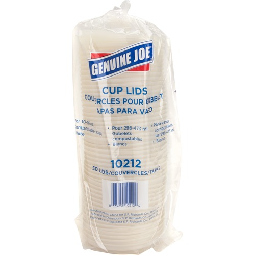 Genuine Joe Vented Cup Lid GJO10212-BULK