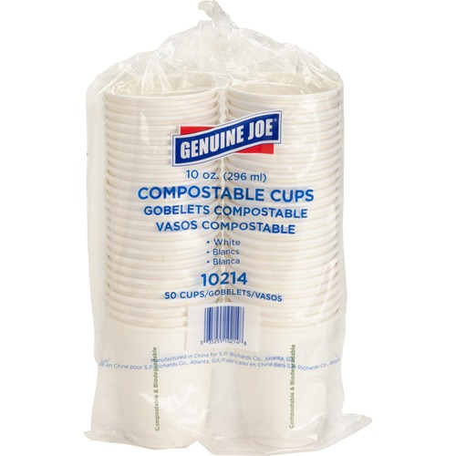 Genuine Joe Compostable Paper Cups GJO10214-BULK