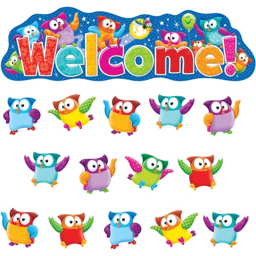 Trend Owl-Stars! Welcom Bulletin Board Set TEP8367-BULK