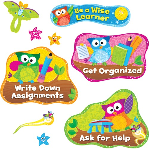 Trend Owl Study Habits Bulletin Board Set TEP8361