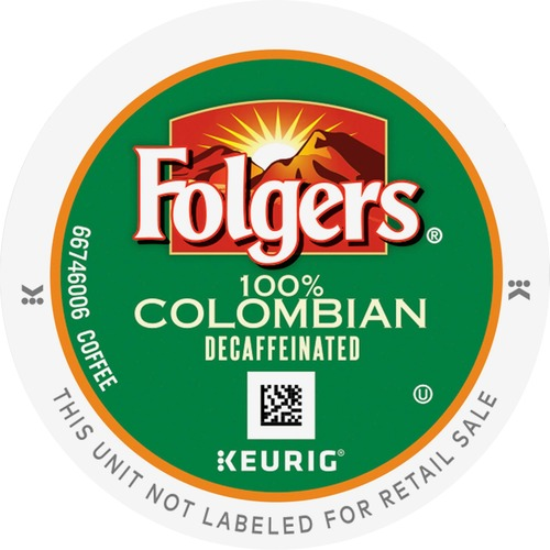 Folgers Gourmet Selections Lively Colombian Decaf K-Cup Packs K-Cup GMT0570