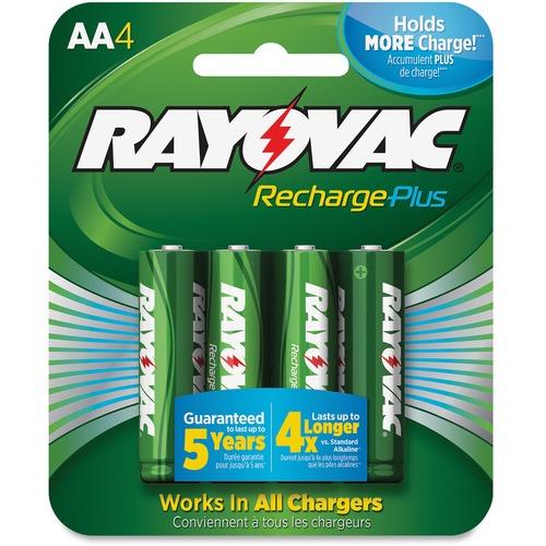 Rayovac Recharge Plus AA Batteries RAYPL7154BCT