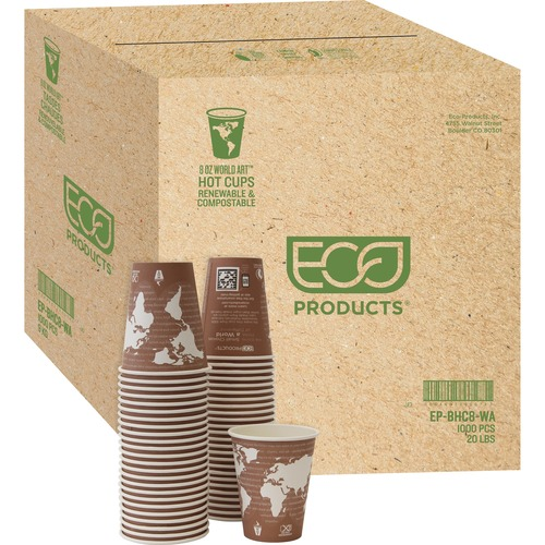 Eco-Products Renewable Resource Hot Drink Cups ECOEPBHC8WACT