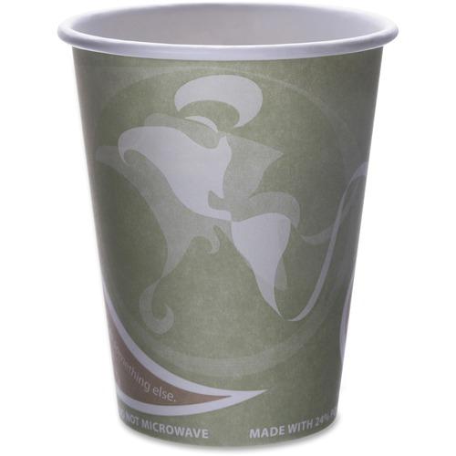 Eco-Products Evolution World PCF Hot Cups ECOEPBRHC12EWCT