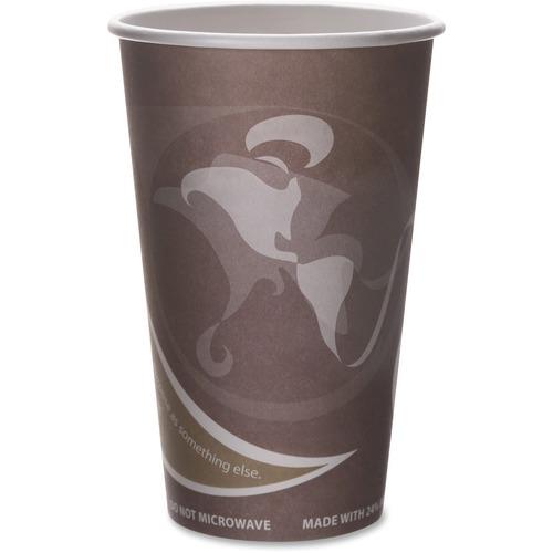Eco-Products Evolution World PCF Hot Cups ECOEPBRHC16EWCT