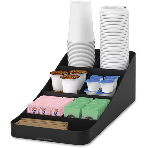 Mind Reader Trove 7 Coffee Condiment Organizer EMSCOMP7BLK