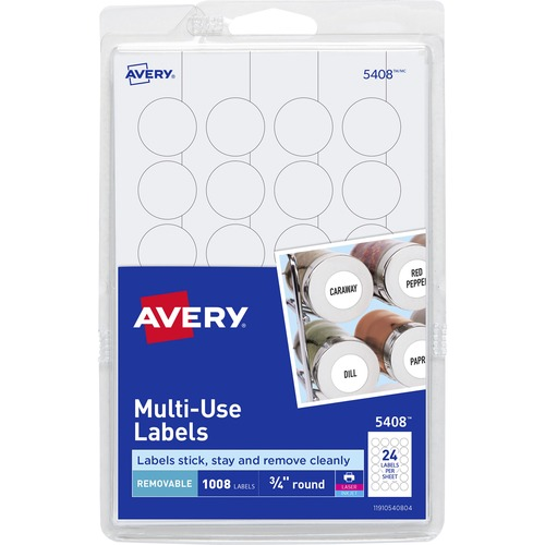 Avery Print or Write Multi-Use Round Labels AVE05408 : eBay